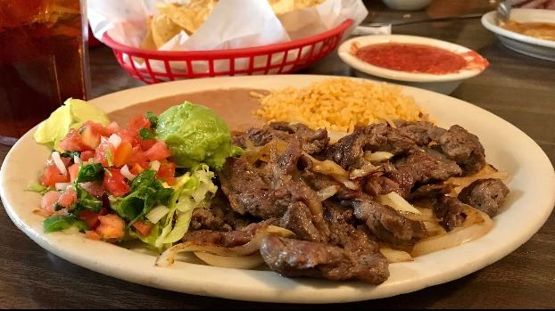 Fajita plate from Garcias in Buda TX