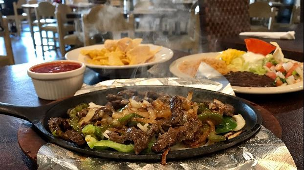 Skillet fajitas from Super Slicks in Buda TX