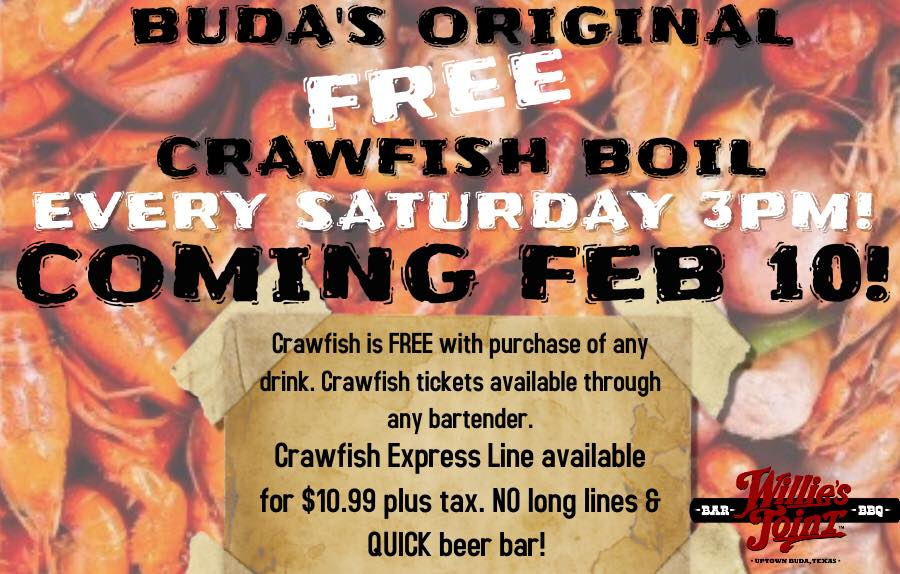 Free Crawfish Boil at Willies