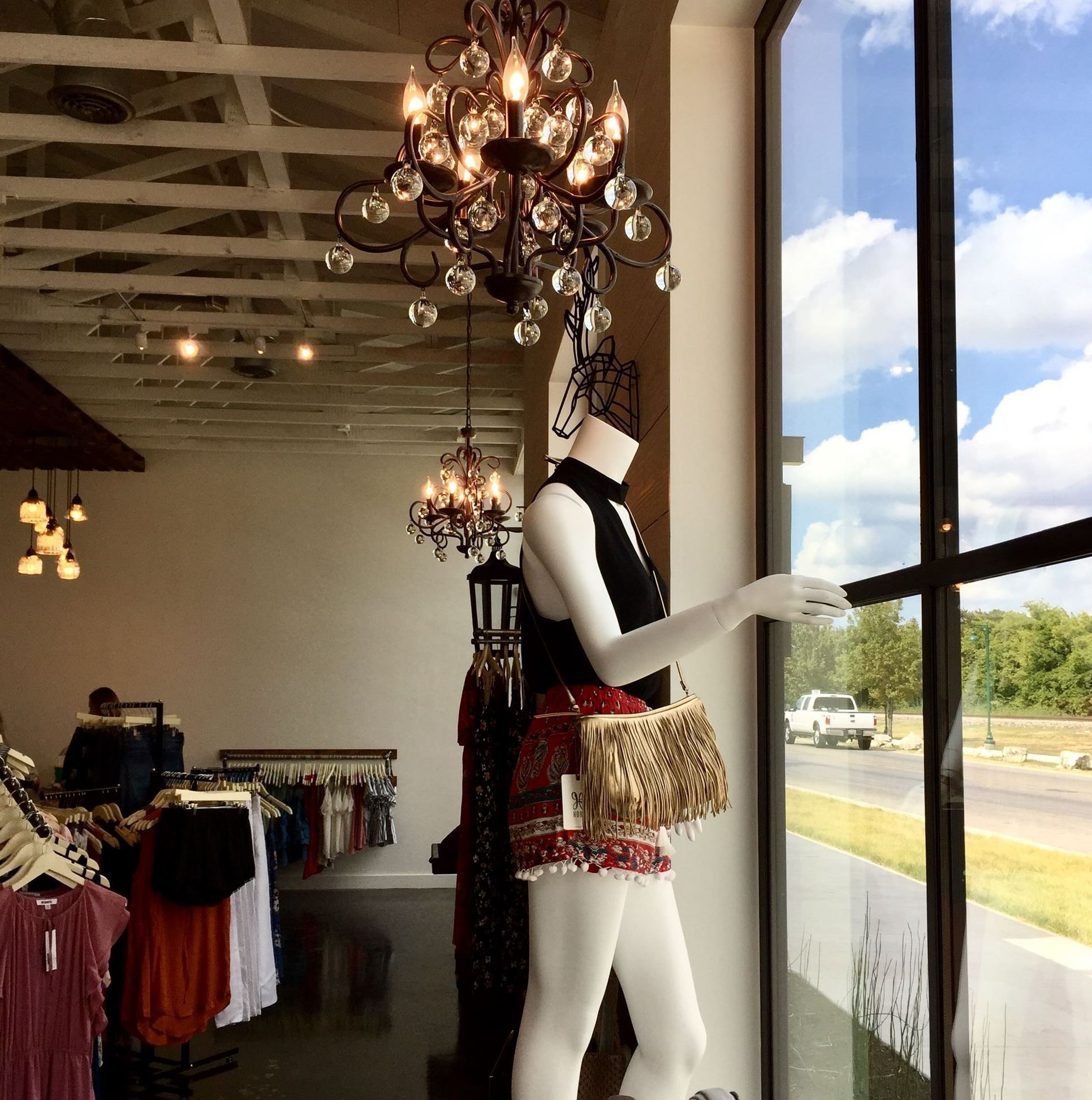 View of window inside Ellipsis Boutique