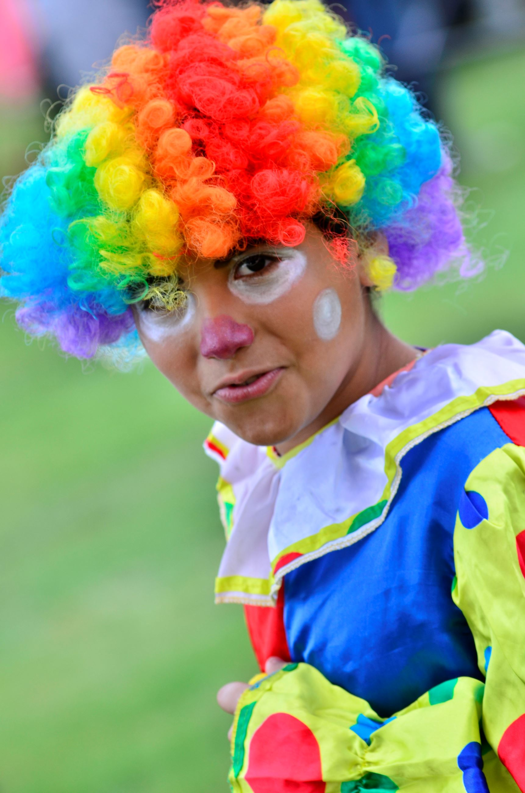 Child in clown costume at 2013 Booda Halloween