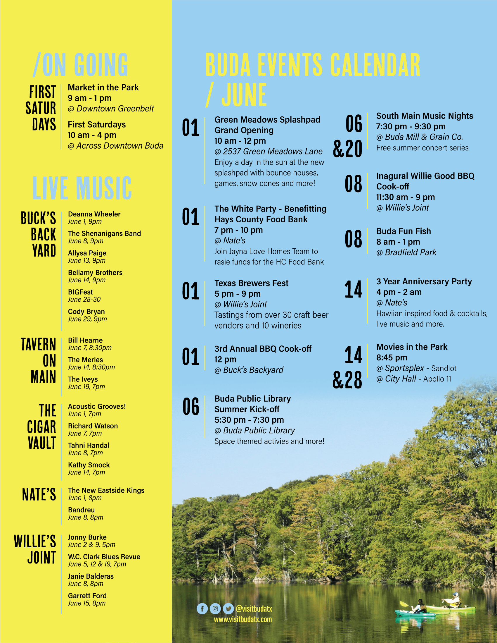 June Events Calendar 2019