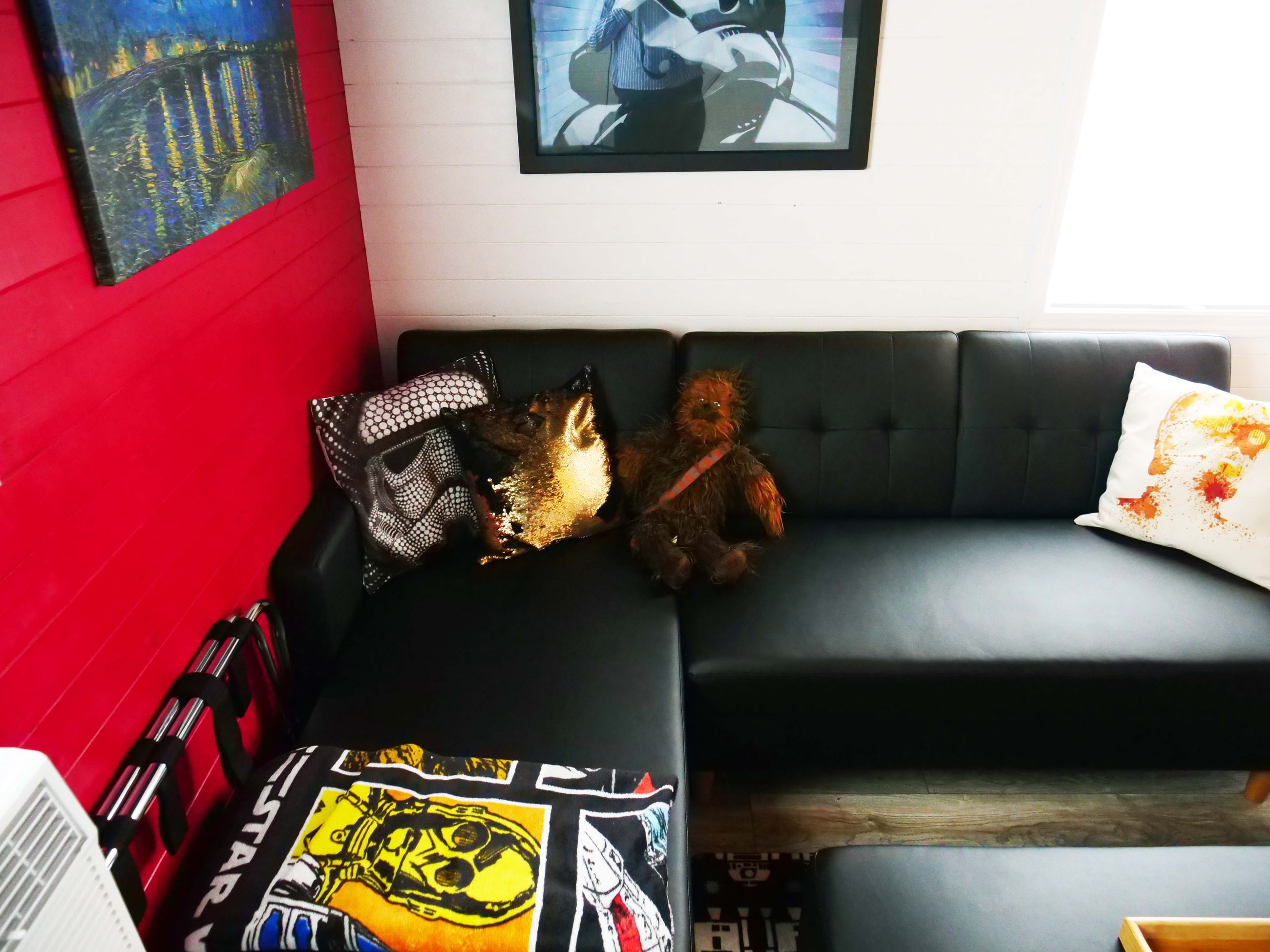 Couch in Star Wars Tiny Home at Docs Drive-In