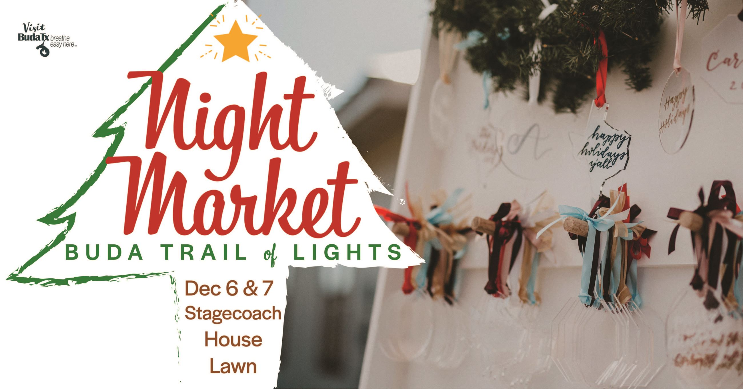 Night Market at Trail of Lights banner